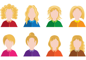 Set Of Personas Icons - Free vector #411795