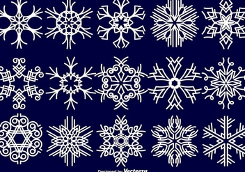Snowflakes Collection - Vector - vector gratuit #411965