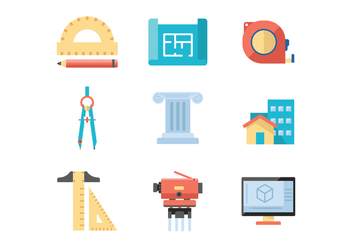 Free Architect Icons - бесплатный vector #411985