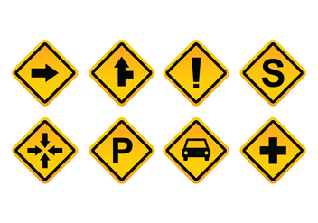 Free Road Sign Vector Pack - бесплатный vector #412025