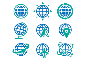 Free Globe Icons Vector - Kostenloses vector #412085