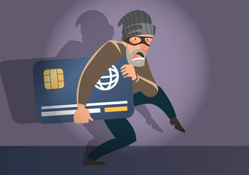 Bank Card Theft - vector gratuit #412095