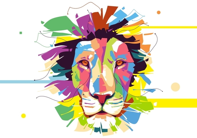 Lion - Animal Style - Popart Portrait - Free vector #412115
