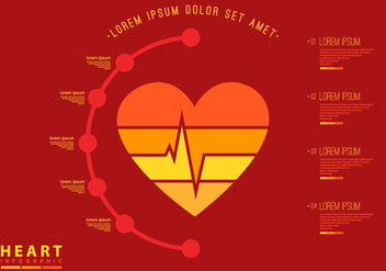 Heart Rate Infographic Flat Template - Free vector #412165