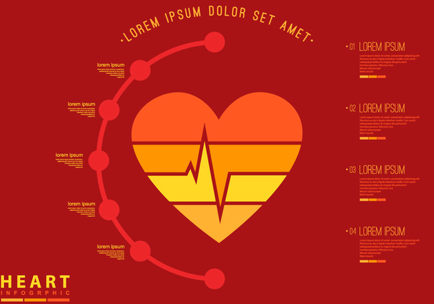 Heart Rate Infographic Flat Template - Kostenloses vector #412165