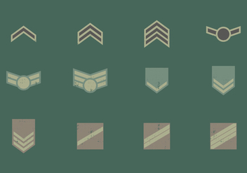 Military Badge Symbols - vector gratuit #412205