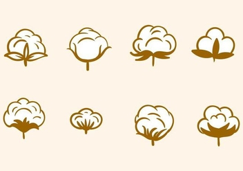 Free Hand Drawn Cotton Flower Vector - vector gratuit #412245
