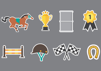 Free Barrel Racing Icons Vector - Free vector #412265