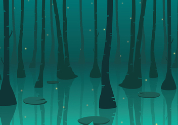 Swamp Background Free Vector - бесплатный vector #412335
