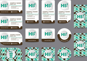 Communication Name Card Templates - Free vector #412345