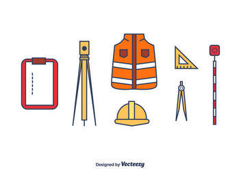 Surveyor Vector Set - vector gratuit #412505