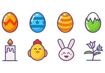 Free Easter Icons Vector - бесплатный vector #412525