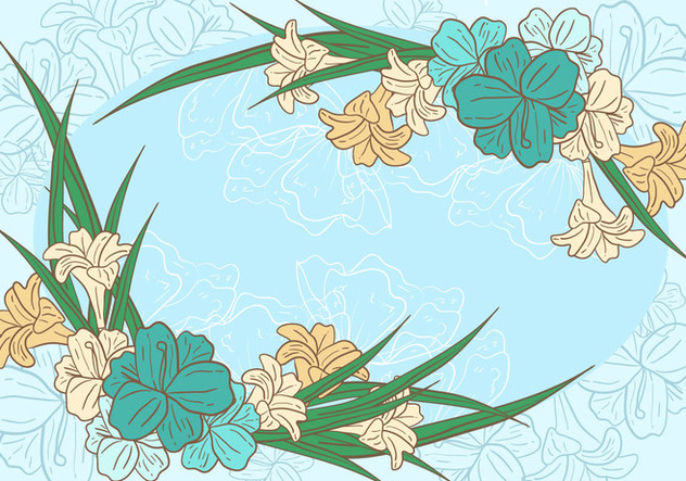 Easter Lily Background - vector gratuit #412595