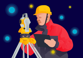 Free Surveyor Vector Illustration - Free vector #412625