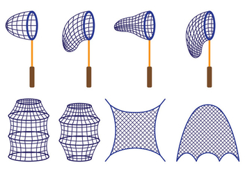 Vector Of Fishing Net - vector #412645 gratis