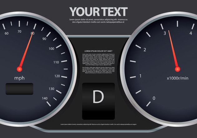 Gear Shift Speedometer Illustration Template - vector #412665 gratis