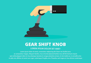 Gear Shift Knob Illustration - vector gratuit #412715