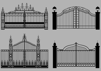 Open Gate Free Vector - Free vector #412795