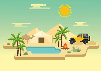Jeep Desert Trip Free Vector - Free vector #412895