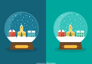Free Vector Winter Snow Globes - vector gratuit #412905