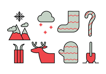 Winter activities icon set - vector #412975 gratis