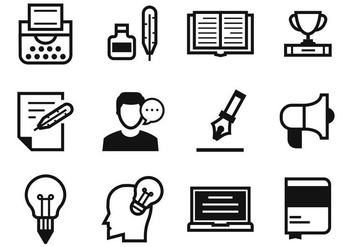 Free Writers and Storytelling Icons Vector - vector gratuit #412995