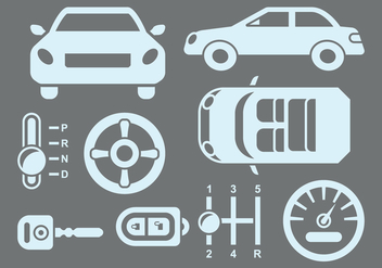 Car Parts Icons - vector #413195 gratis