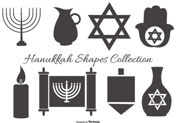 Hanukkah Vector Shapes Collection - Kostenloses vector #413315