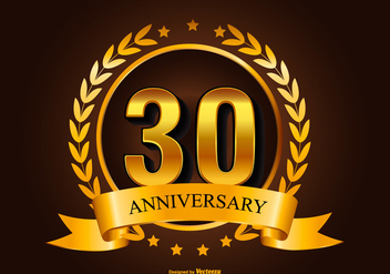 30th Anniversary Illustration - vector #413335 gratis