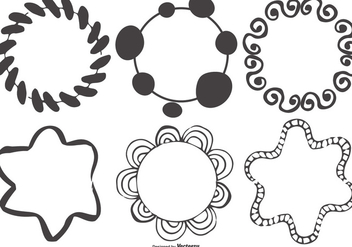 Messy Hand Drawn Frame Shapes Collection - Free vector #413345