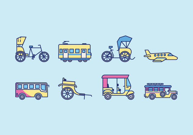 Free Public Transportation Vector - бесплатный vector #413365