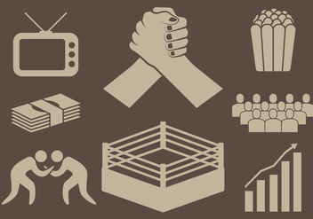 Wrestling Icons - Free vector #413425
