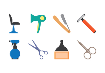 Free Barber Icon Set - Free vector #413475