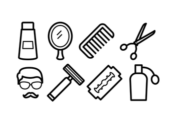 Free Barber Icons - vector #413485 gratis