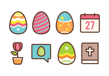 Free Easter Icon Set - vector gratuit #413515