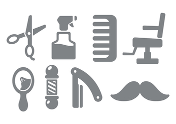 Barber Shop Icon Vector - Free vector #413575