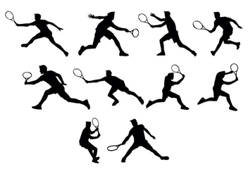 Free Tennis Silhouettes Vector - vector gratuit #413585