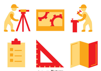 Surveyor Icons Vector Set - Free vector #413705