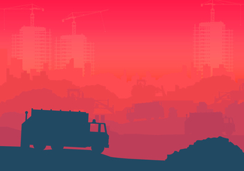 Landfill Industrial Illustration - Free vector #413735