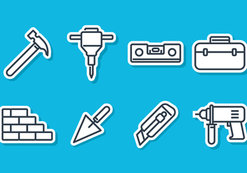 Construction Tools - Kostenloses vector #413745