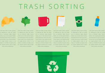 Landfill Trash Sorting - Free vector #413765
