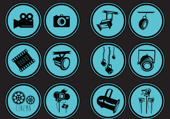 Hollywood Lights Icon - Free vector #413805
