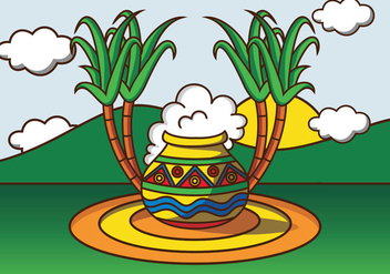 Illustration Of Pongal - бесплатный vector #413825