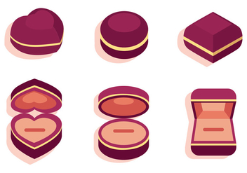 Ring Box Vector Set - vector gratuit #413875