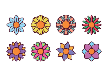 Free Flower Icon Set - vector gratuit #413895