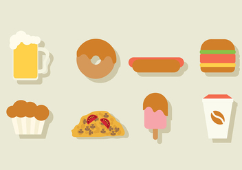 Food Vector Pack - Kostenloses vector #413915