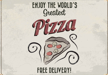 World's Greatest Pizza Retro Vector - Free vector #413995