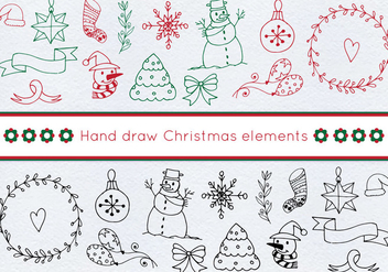 Free Vector Christmas Set - Kostenloses vector #414055
