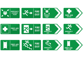 Emergency Sign - Free vector #414065
