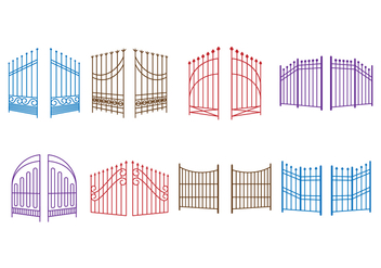 Free Open Gate Vector - Free vector #414075